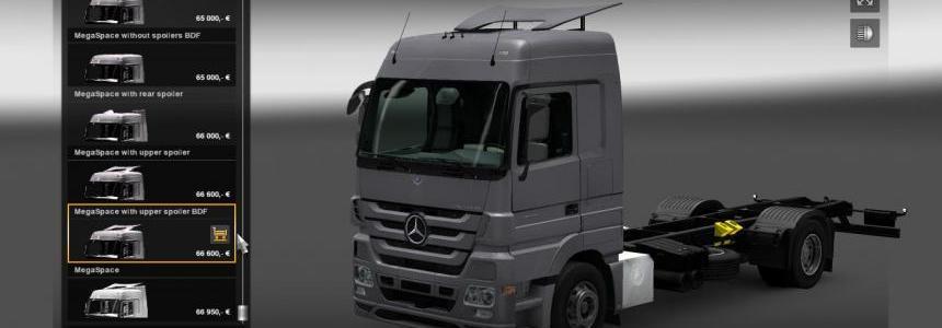 MB Actros MP III mega mod + Tandem mod + truck skin pack