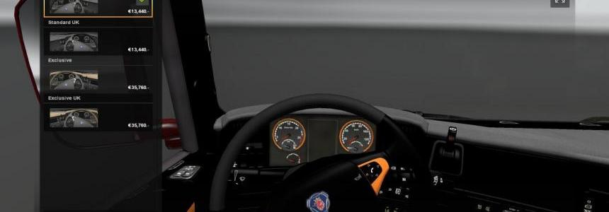 Scania Black/Orange Interior