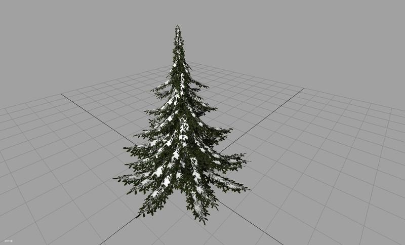 christmas tree with snow v1 0