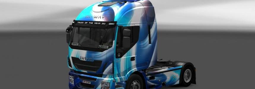 Blue Abstract Iveco Hi-Way skin