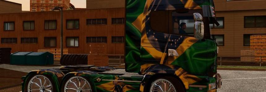 Brasil Scania Streamline and Volvo FH16 2013 Skin