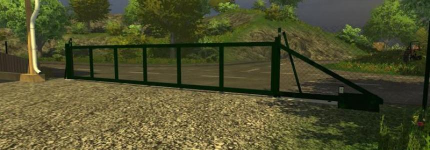 Chain link fence with sliding gate v1.0