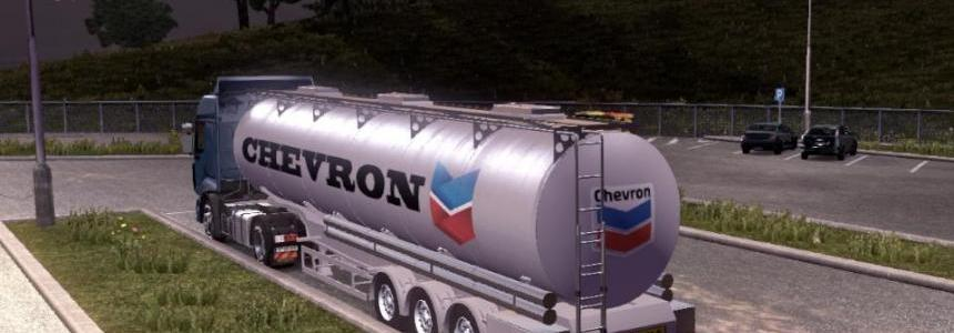Chevron chemical trailers