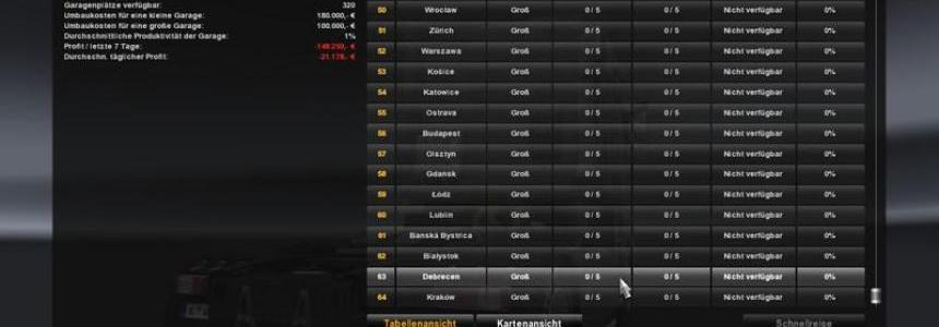 Cities and Garages v1.2 with going east