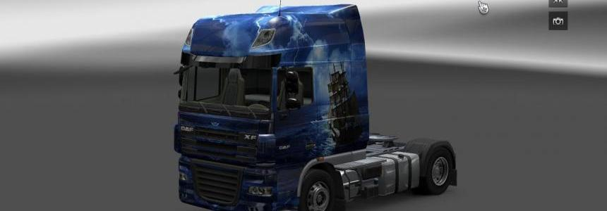 Daf Blue Sea Pirate skin