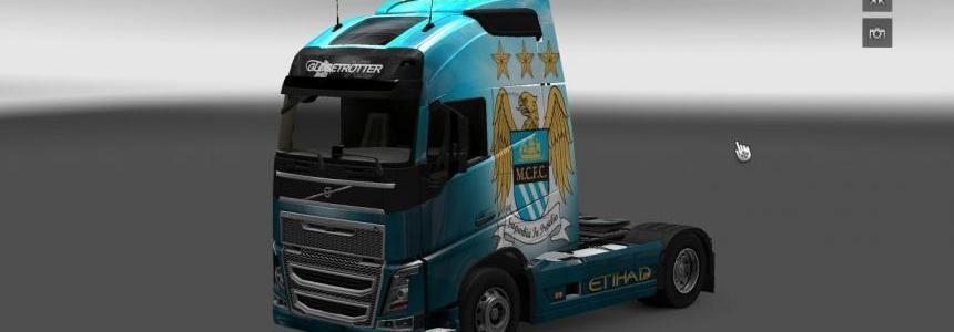 Scania and Volvo Manchester City Skin