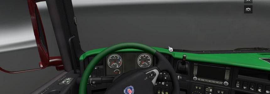 Scania Dark Green Interior