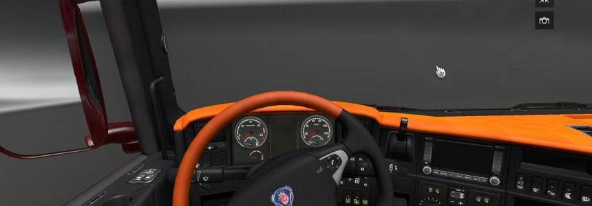 Scania Dark Orange interior