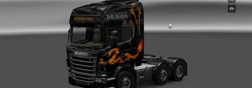 Scania Dragon Fire skin