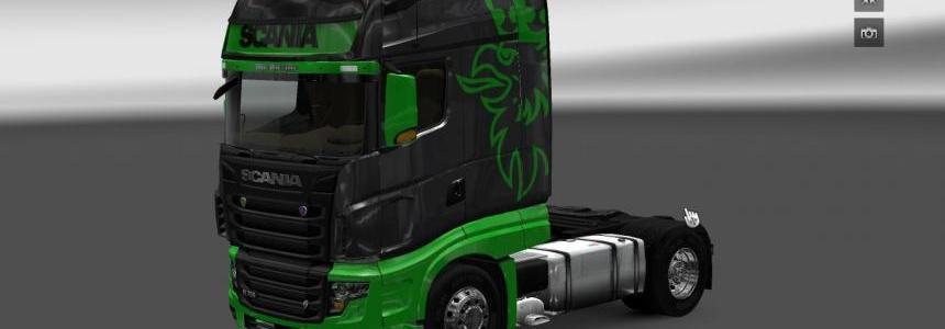 Scania R700 Black Green Skin