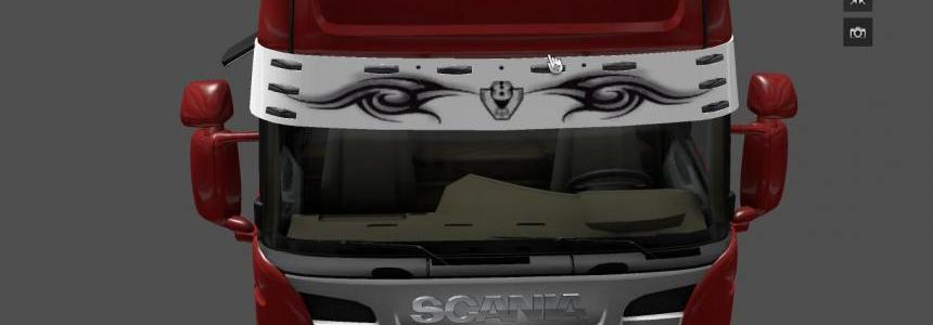 Scania V8 Tribal Sun Visor