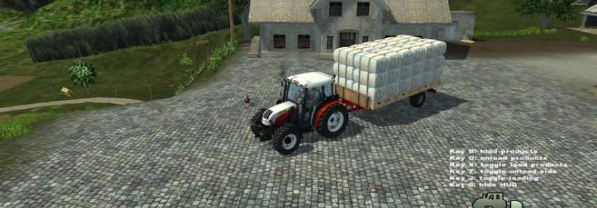 Single axle bale trailer v1.0