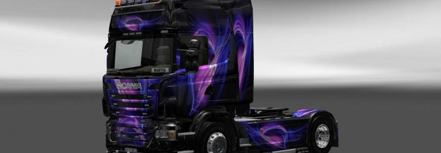 Skin Scania Black and Purple