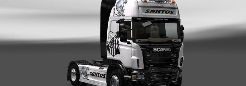 Skin Scania Santos FC
