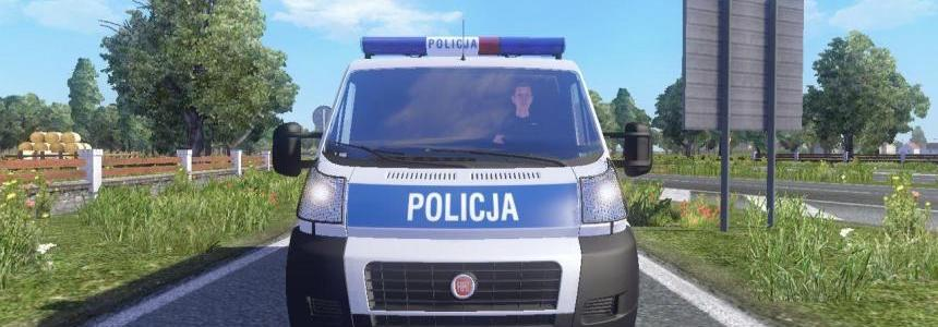Traffic Fiat Ducato Polish Police
