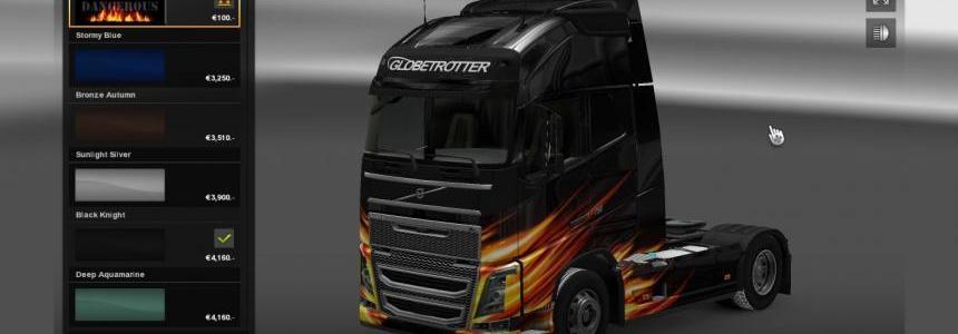 Volvo 2012 - Dangerous Fire Skin