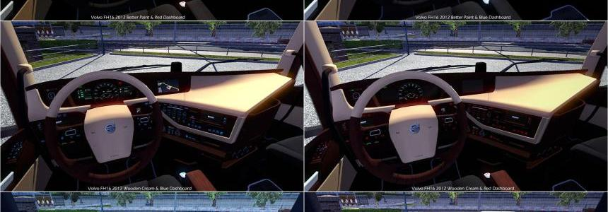 Volvo FH16 2012 New Interior & Colored Dashboard v2.0