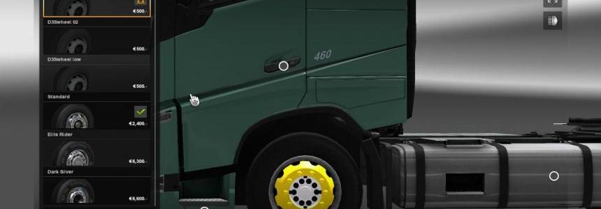 Yellow wheels for your truck