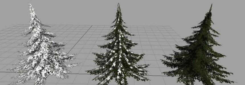 Christmas tree with snow v1.1