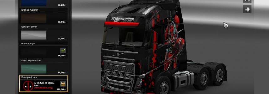 Deadpool skin for Volvo FH 2012