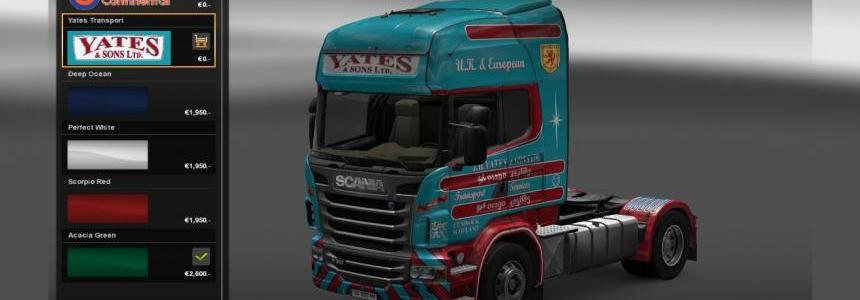 JH Yates & Sons Scania R Topline