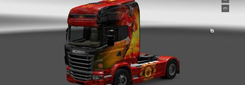 Manchester United skin Scania R