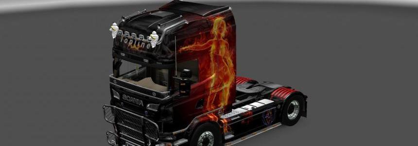 Scania Fire Skin Girl