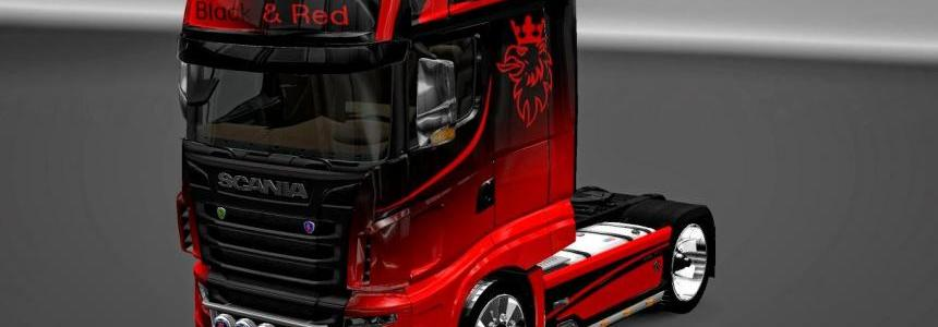 Scania R700 Black & Red