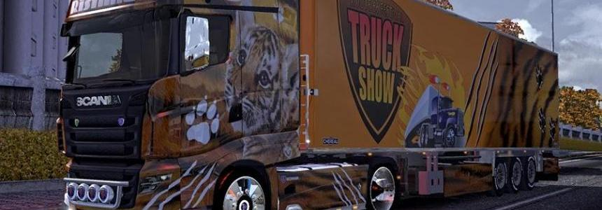 Scania R700 + Trailer Tiger Skin Pack