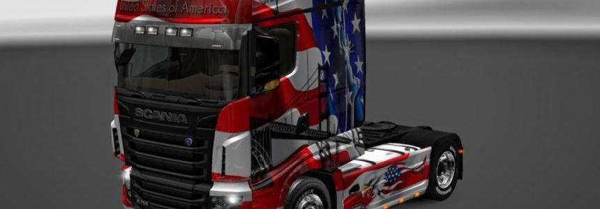Scania R700 USA Skin