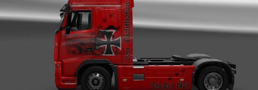 Skin Baron Rojo Volvo FH16 Clasic