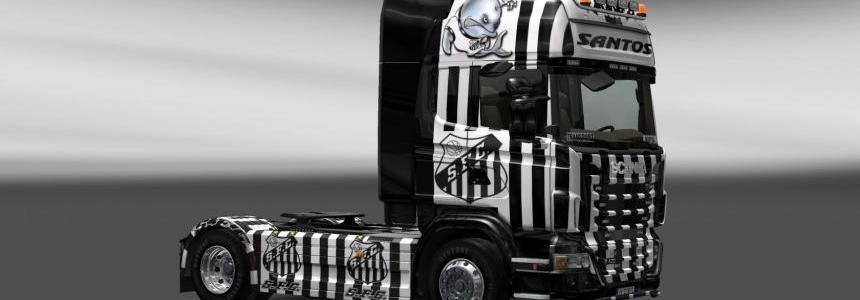 Skin Scania Santos FC V2