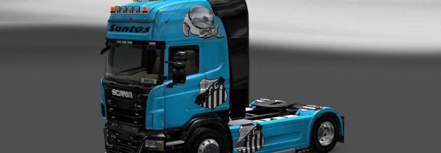 Skin Scania Santos FC V3