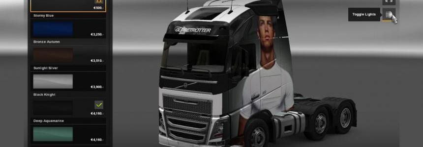 Volvo FH 2012 Cristiano Ronaldo Skin