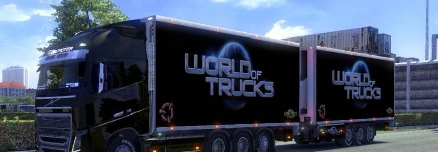 Volvo FH16 2012 BDF tandem with trailer and cargo V1