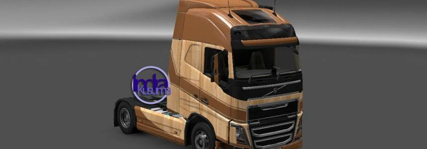 Volvo FH16 2012 Wooden Skin V1.0