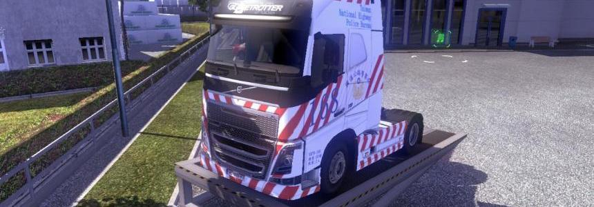 Volvo FH16 Taiwan National Highway Police skin