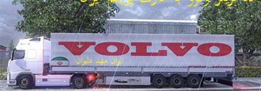 Volvo trailer with Iran flag