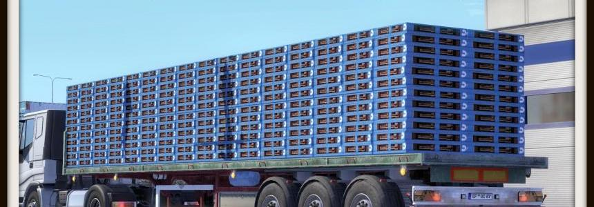 Blue Wooden Pallet Trailer Skin
