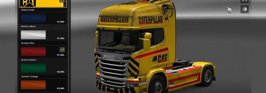 CAT skin for Scania Streamline