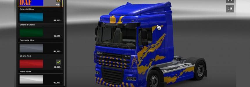 DAF XF Blue/Yellow Skin