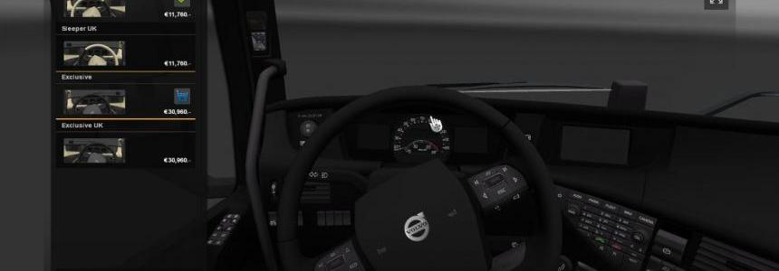 Full Black interior for Volvo 2012