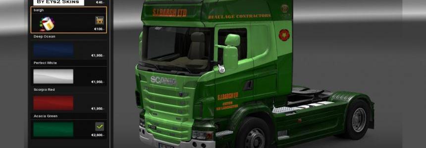 S.J.Bargh skin for Scania R 2009