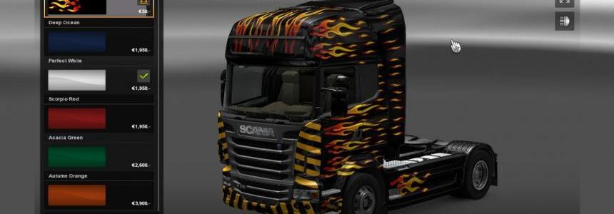 Scania R Flame skin