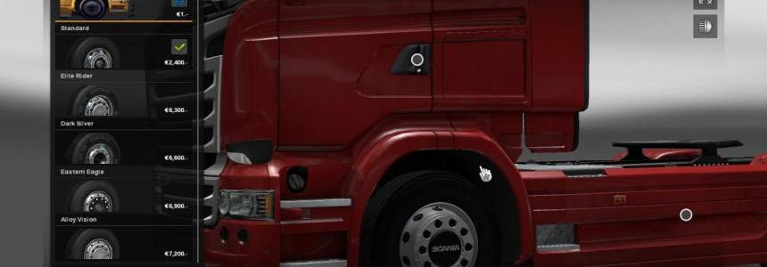 Scania V8 Rims + Stripe
