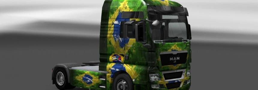 Skin MAN TGX Brasil Copa 2014