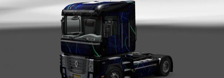 Skin Renault Magnum Blue Smoke