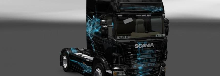Skin Scania Black Smoke