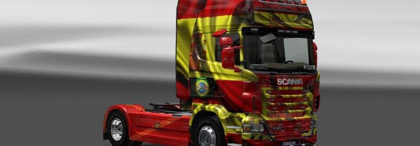 Skin Scania Espanha Copa 2014