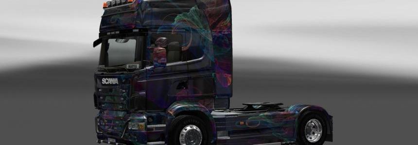 Skin Scania Fractal Flame